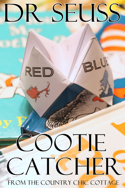 Dr Seuss Activity - Cootie Catcher Free Printable - The Country