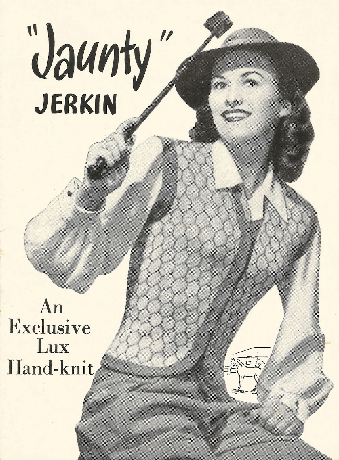 Free 1940s Jerkin Vest Kitting Pattern