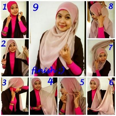 Foto cara memakai jilbab paris ala pipik