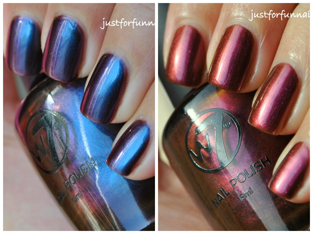 W7 Multichrome Swatches - Metallic Mars & Metallic Venus