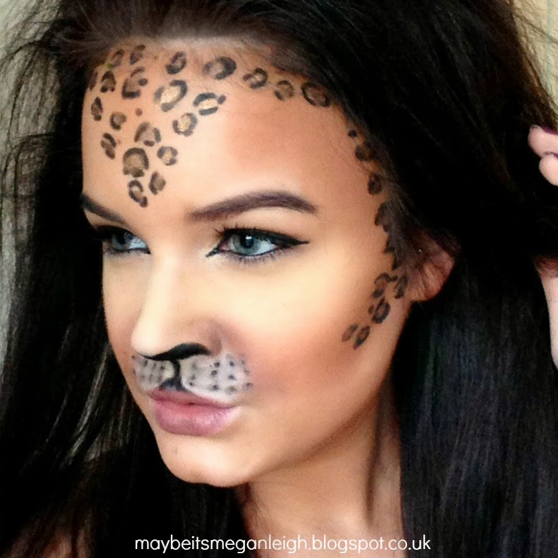 Halloween Makeup - Leopard - Maybe Its Megan Leigh