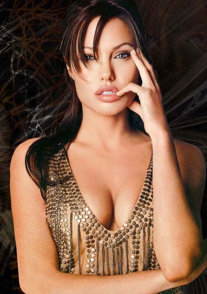 Angelina Jolie Long Hairstyle With Bangs