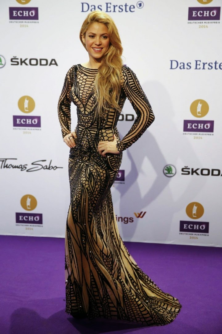 Shakira flaunts Zuhair Murad at the 2014 Echo Awards in Berlin