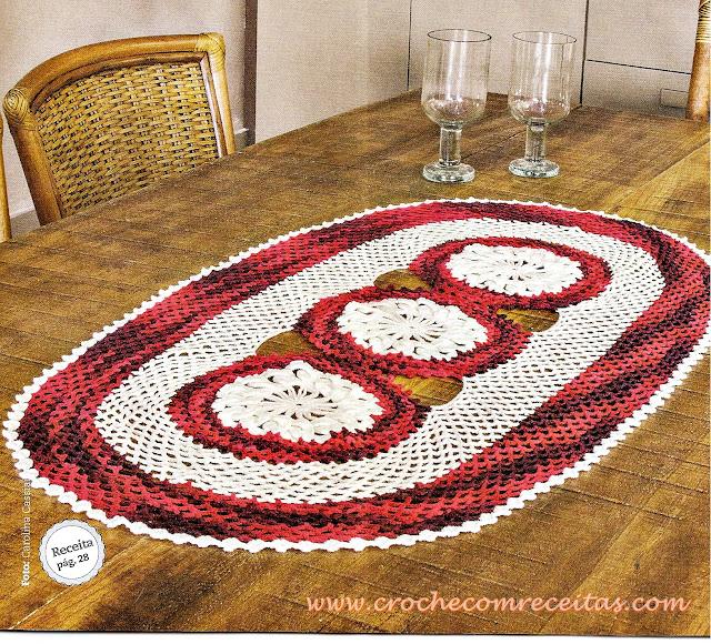tapete de croche com flores em croche com receitas