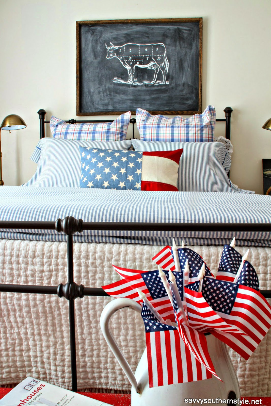 Savvy southern style a patriotic favorite room for Southern style bedroom