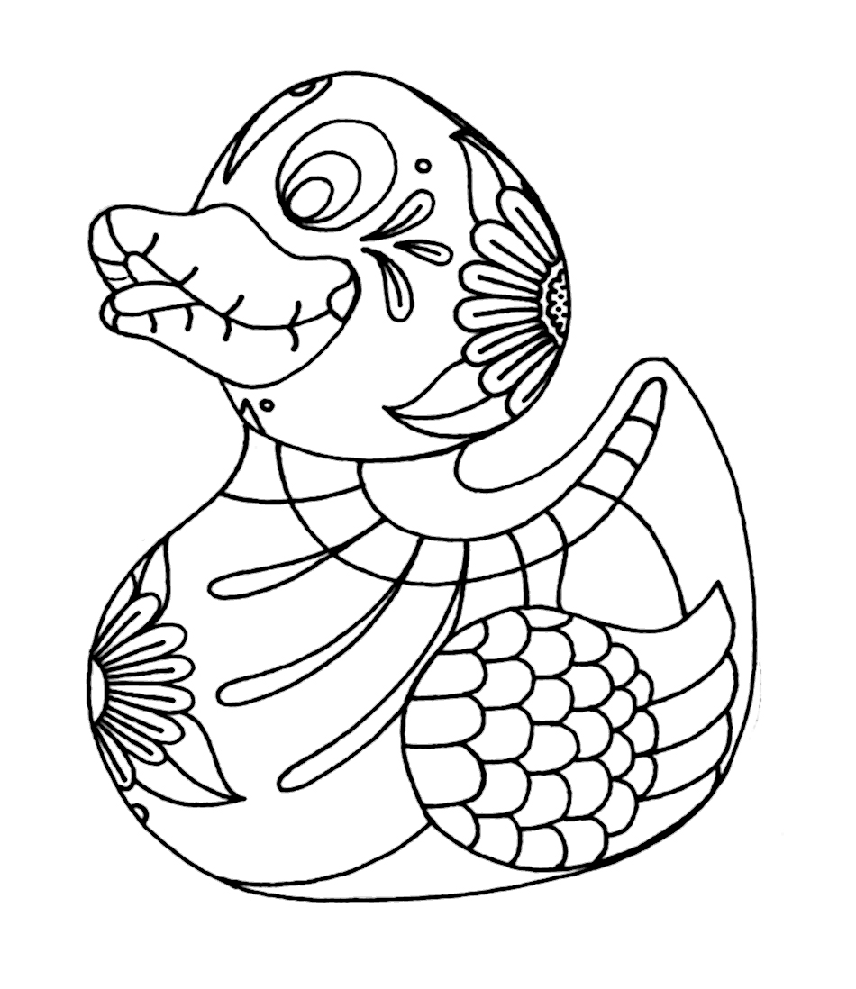 Yucca Flats NM Wenchkin 39 s Coloring Pages Rubber Duckie