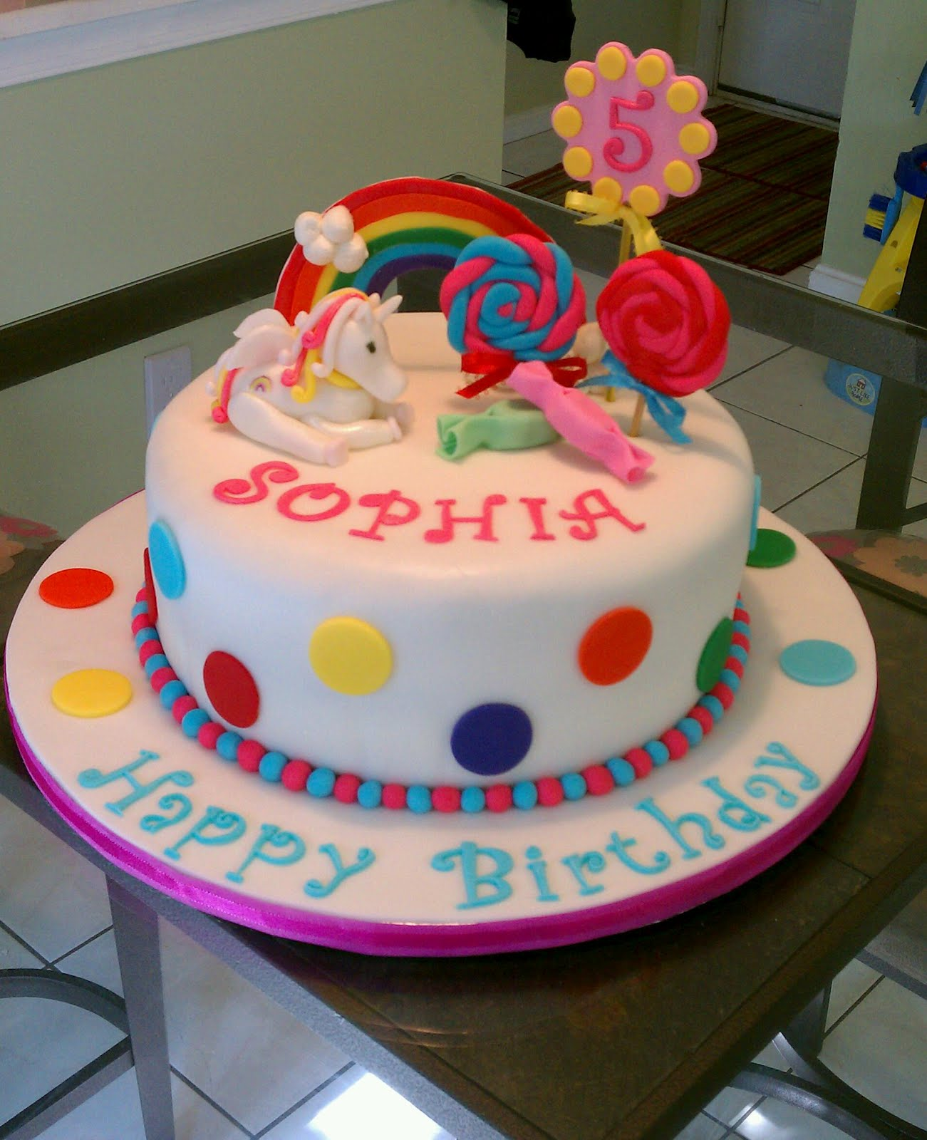 Cakes of Mine-Homemade Cakes and desserts: Rainbow Unicorn ...