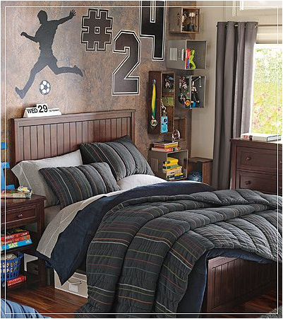 Key interiors by shinay teen boys sports theme bedrooms for Male teenage bedroom ideas