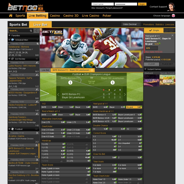 BetnGo Live Betting Offers