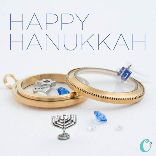Happy Hanukkah Origami Owl Living Locket | Create yours today at StoriedCharms.com