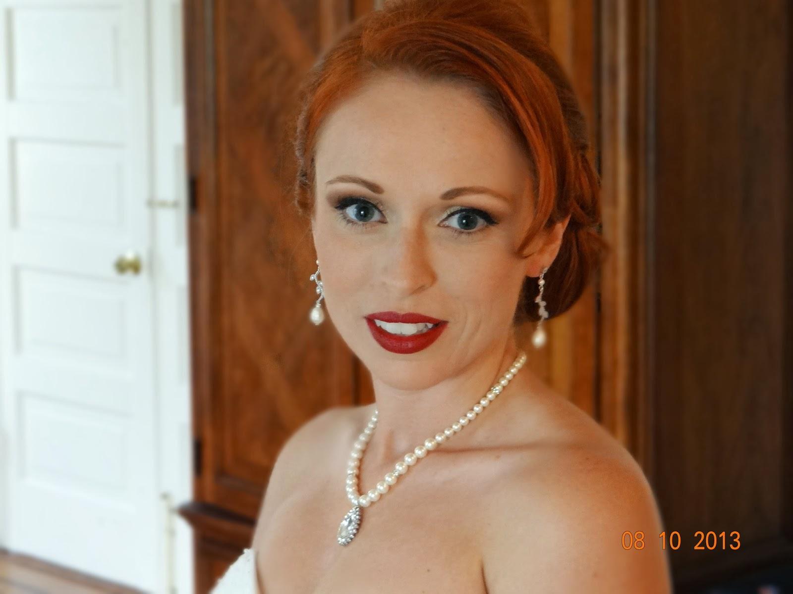 Pretty bridal updo and airbrush makeup by Heather Ferguson, Savannah, GA