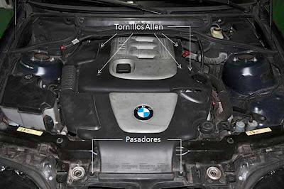 Vano motor BMW 320d E46 cambio aceite motor