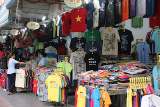 Stalls in the city of Ho Chi Minh