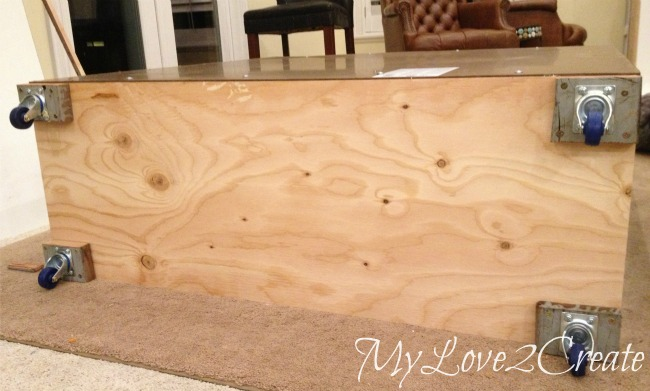 Slanted Wall built-ins, with Hidden Storage | My Love 2 Create