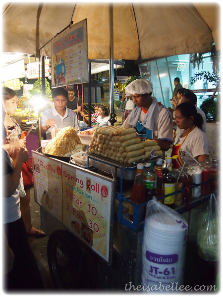 Pad thai at Khao San Road Thailand
