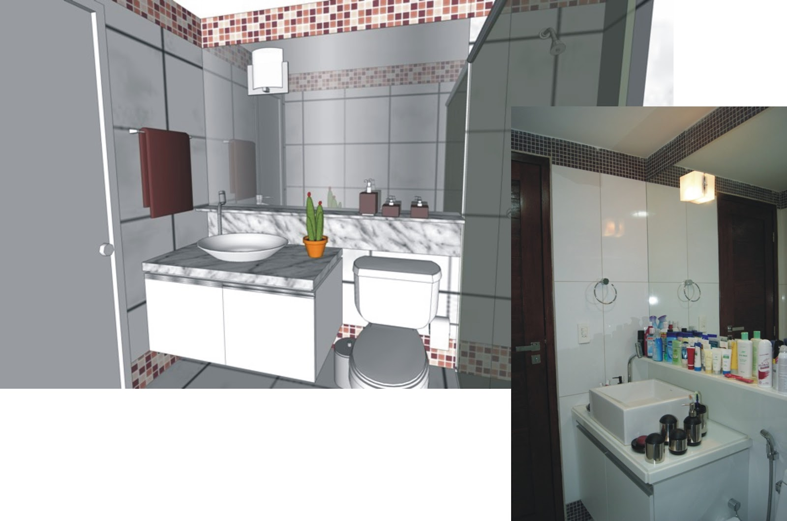 ANDREA MELO: REFORMA APARTAMENTO COMPACTO (2010) #7E564D 1600x1059 Banheiro Antigo Reforma