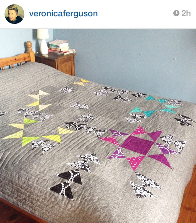 STAR'D Quilt - Made by Veronica @veronicaferguson // Pattern by Kristy Daum