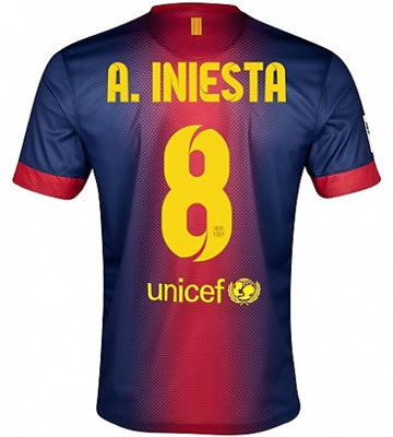 Iniesta camiseta FC Barcelona 2012 2013