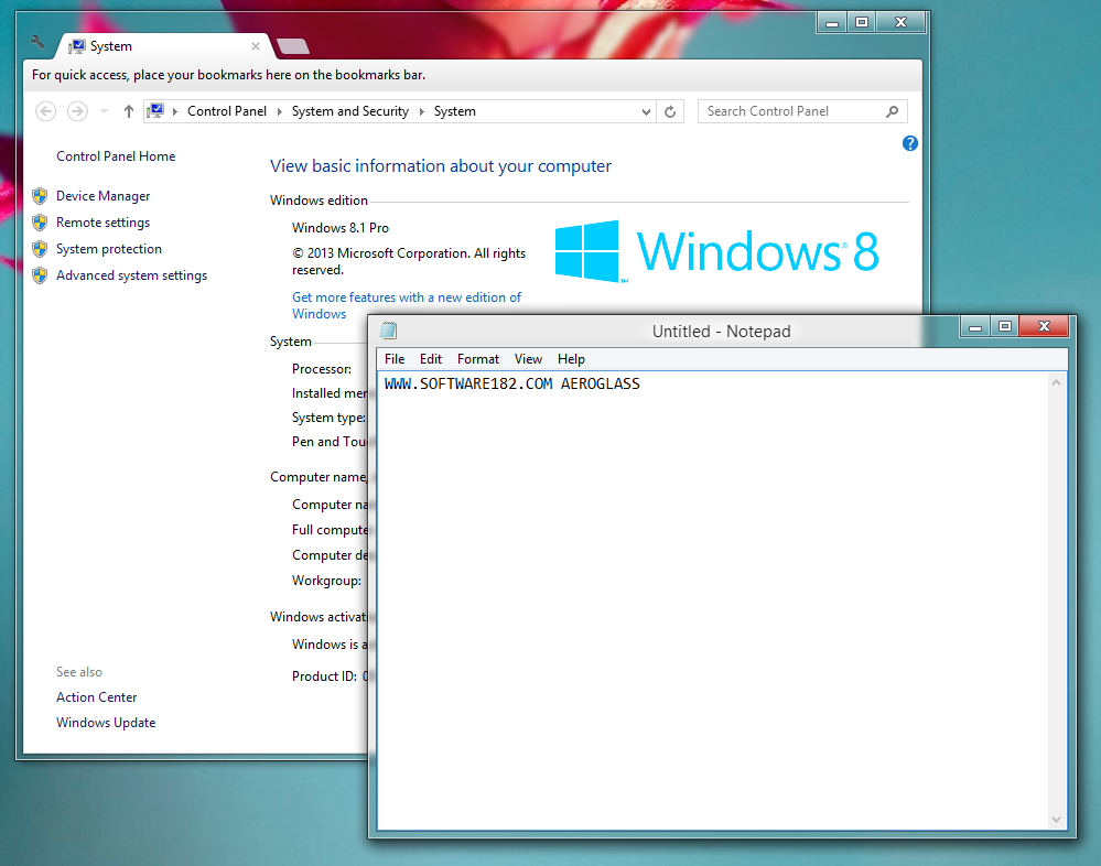 Windows Aero di Windows 8 dan Windows 8.1