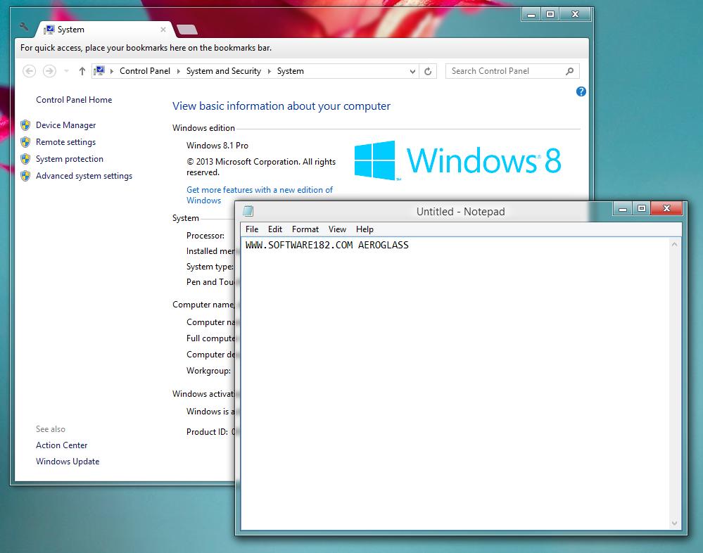 Windows Aero di Windows 8 dan Windows 8.1