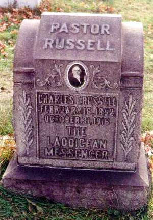Charles T. Russel's grave.