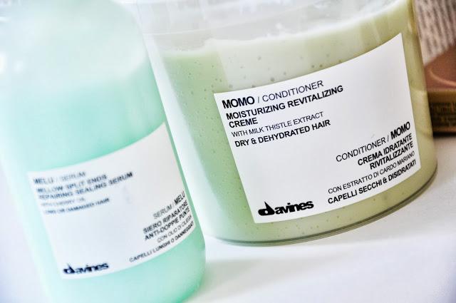 увлажняющим кондиционером для сухих и обезвоженных волос DAVINES Momo Conditioner