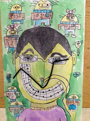 Fourth Grade Salvador Dali's Mustache Art Lesson