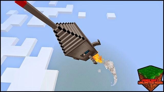 GalactiCraft Mod Cohete espacial