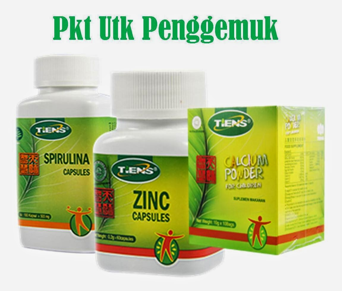 Paket Penggemuk Badan Rumah Terapi Herbal Tiens 1 Zinc Spirulina