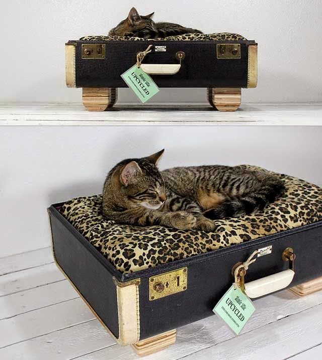 Camas para Gatos con Materiales Reciclados por Atomic Attic
