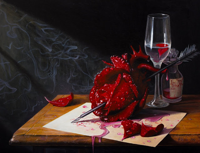 love,surrealism,red rose