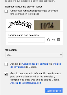 formulario registro Google