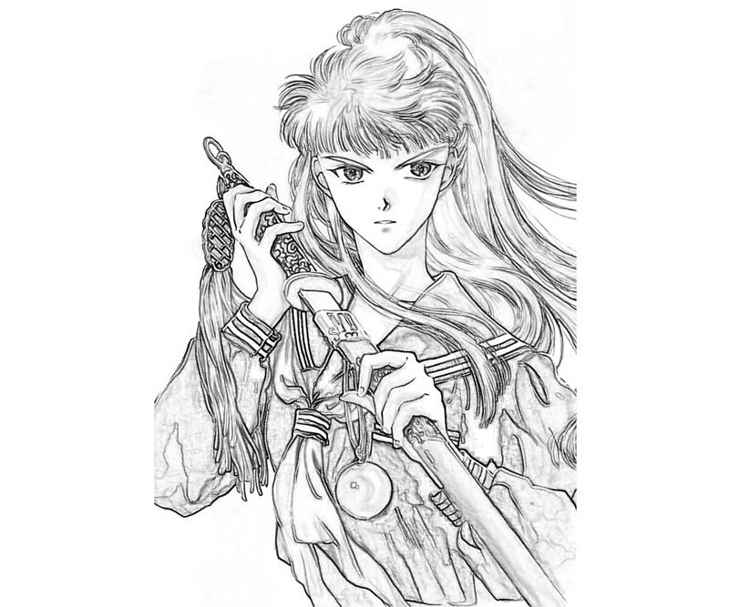 youko-nakajima-weapon-coloring-pages