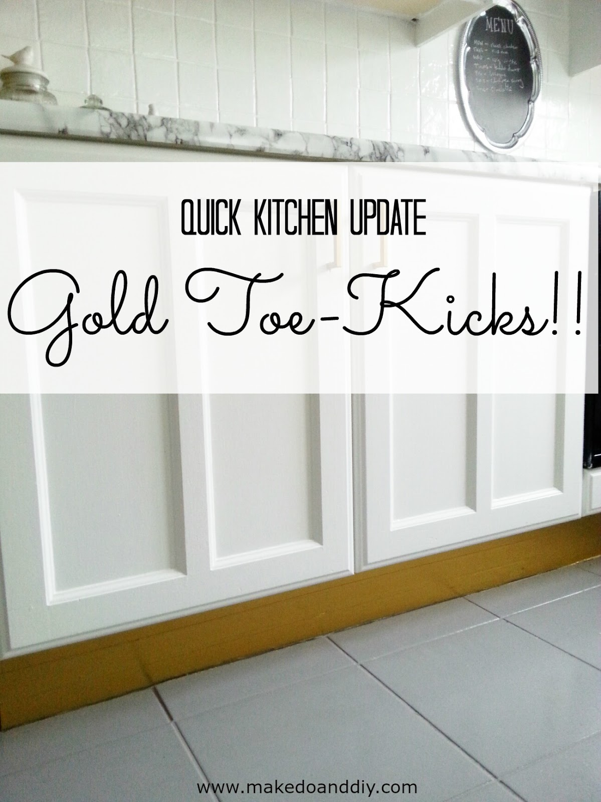 gold toe-kicks (for realz) ~ Make Do and DIY