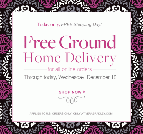 Vera bradley coupons free shipping code