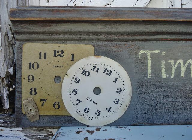 Repurposed Clock Faces Sign via Knick of Time