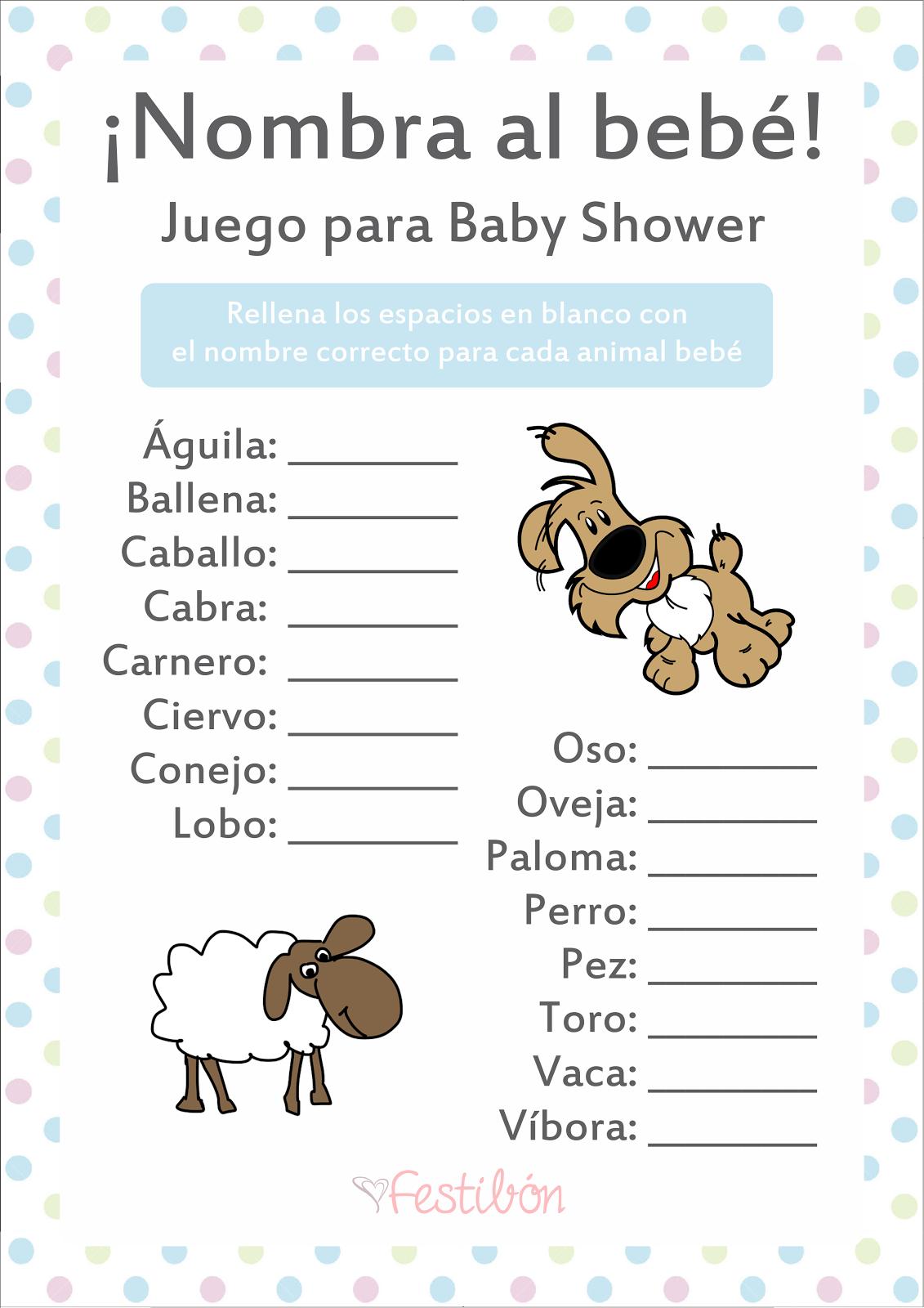 Descarga 16 Juegos para Baby Shower para Imprimir GRATIS en ...