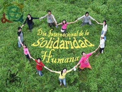 Día, Internacional, Solidaridad, Humana, ONU, corazón, campo