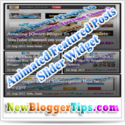 Animated Featured Posts Slider Widget For Blogger