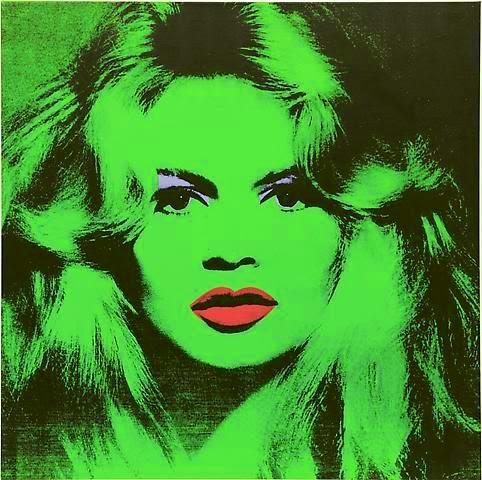 Brigitte y Andy Warhol