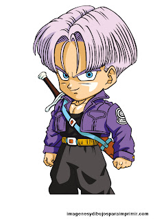 Dibujo de trunks de dragon ball