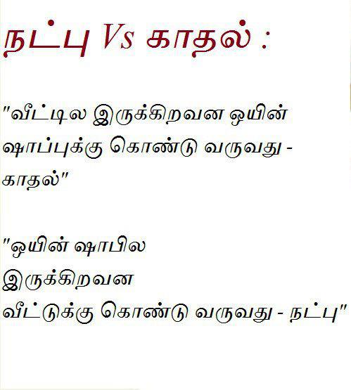 Love and Friends Difference In Tamil