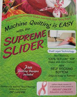 supreme slider quilt FMQ