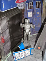 A Cyberman terrorises London