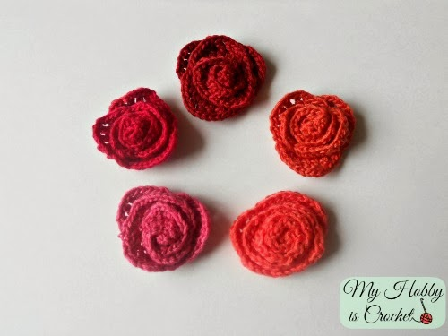 Crochet Thread Rose Pattern Free : My Hobby Is Crochet: Small Crochet Roses - Free Pattern
