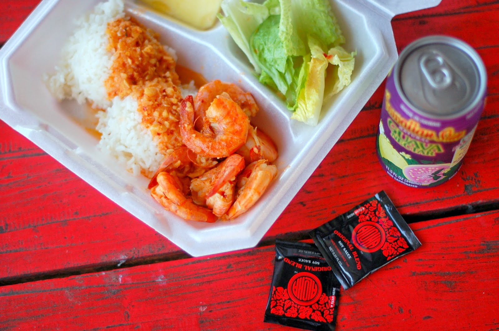 Fumi's Spicy Buttered Kahuku Shrimp Plate | via Chandara Creative