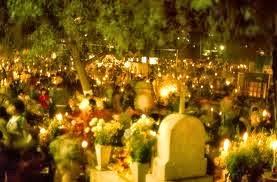 Día de muertos visita al panteón