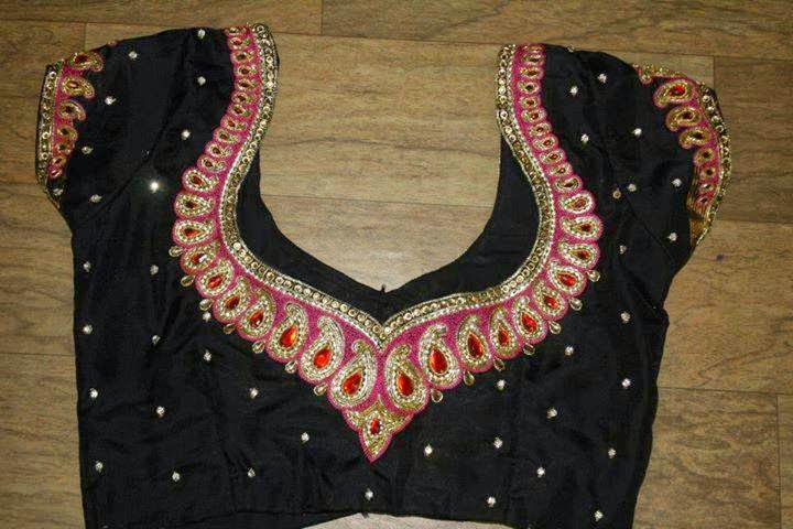 Embroidery and maggam blouses a simple mango design with