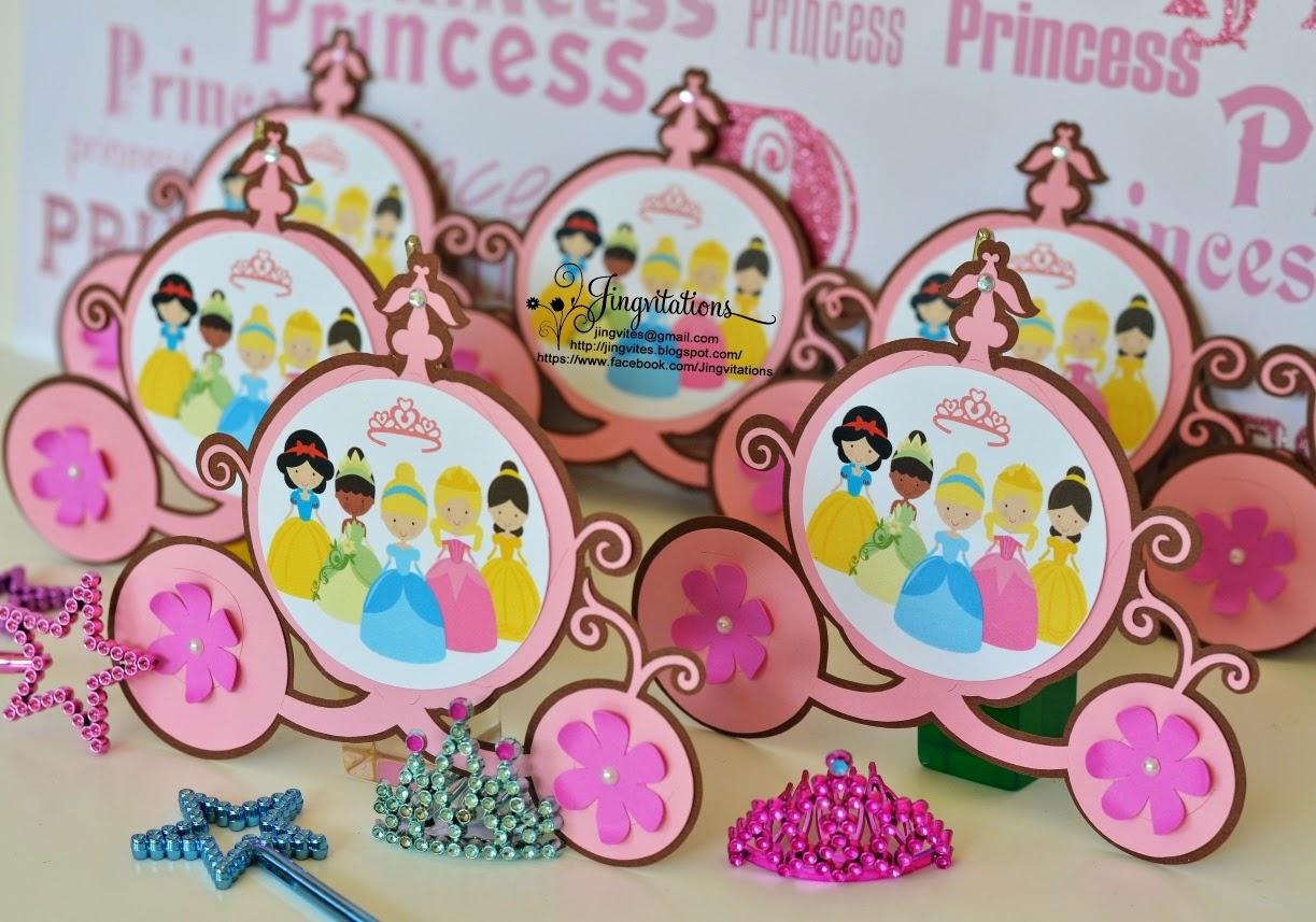 Jingvitations Disney Princess Inspired Birthday Invitations – Princess Tiana Birthday Invitations