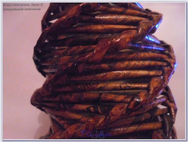 образец спирального плетения